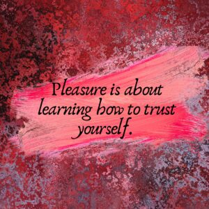 When you trust yourself, you won't need to set up reward systems to feel joy